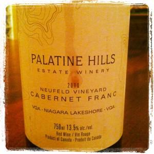 Palatine Hills 2010 Neufeld Vineyard Cabernet Franc