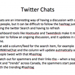 How to follow a Twitter Chat