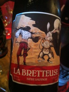 """A beer aged in """"brett"""" wine barrels that used to hold Cabernet Sauvignon..."""