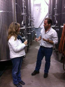 Tank tasting with Brian Schmidt at Vineland Estates