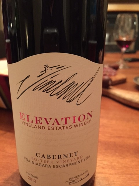 Vineland Estates 2012 Elevation Cabernet